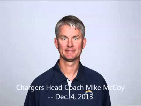 Chargers Head Coach Mike McCoy Conference Call -- Dec. 4, 2013