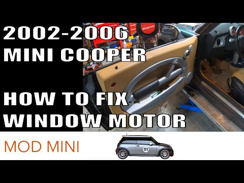 How to fix MINI Cooper Window Motor 2002-2006 R50 R52 R53
