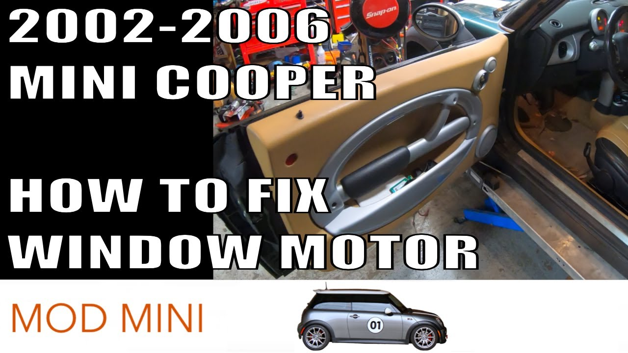 How to fix MINI Cooper Window Motor 2002-2006 R50 R52 R53