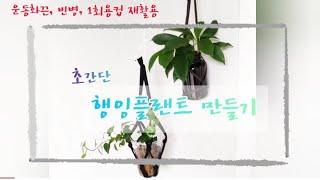 [수경재배]행잉플랜트 만들기(초간단 방법 3개), 운동…