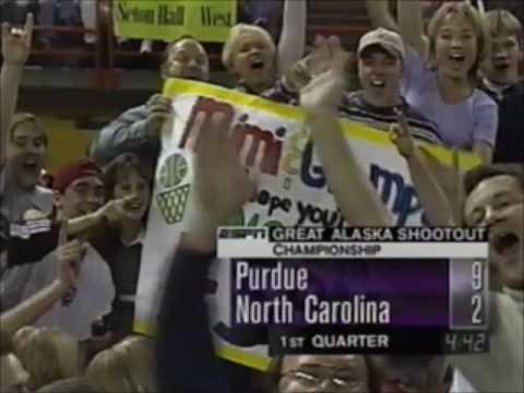 1997 Great Alaska Shootout Final - UNC Tar Heels vs. Purdue Boilermakers