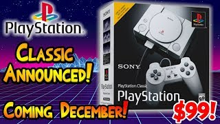 Playstation Classic Announced! December 3rd! $99.99! Preorder Links Are Live!