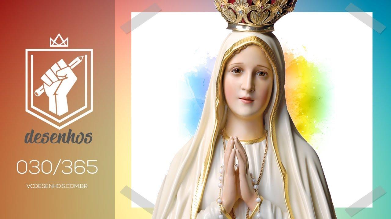 Como Desenhar Nossa Senhora De Fatima Kawaii 030 365 Youtube