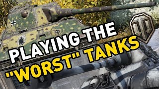 Playing the 'Worst Tanks' in World of Tanks