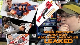 NERF MEGA FORTNITE TACTICAL SHOTGUN, RIVAL HERACLES PISTOL LEAKED! | Walcom S7