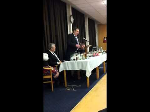 David Baird toast to the lassies Burns Supper 2016