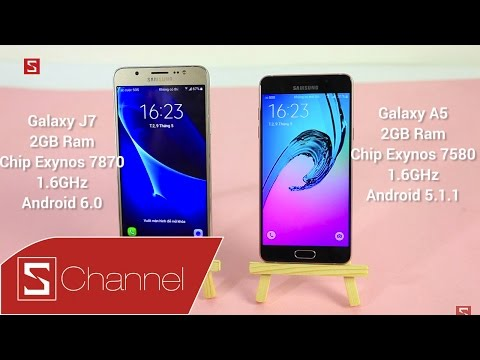 Schannel - Speedtest Galaxy J7 2016 vs Galaxy A5 2016: Exynos 7870 vs Exynos 7580 chip nào mạnh hơn?