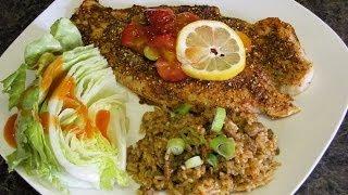 Blackened Catfish W/ Strawberry Mango Salsa