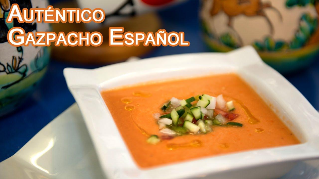Gazpacho Ricetta En Espanol.El Autentico Gazpacho Receta Desde Espana Youtube