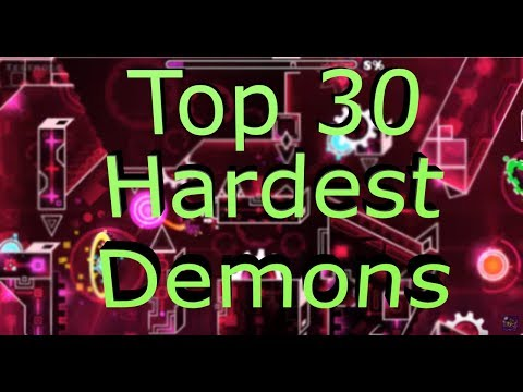 New Top 30 Hardest Demons In Geometry Dash (with Zodiac) 2019!