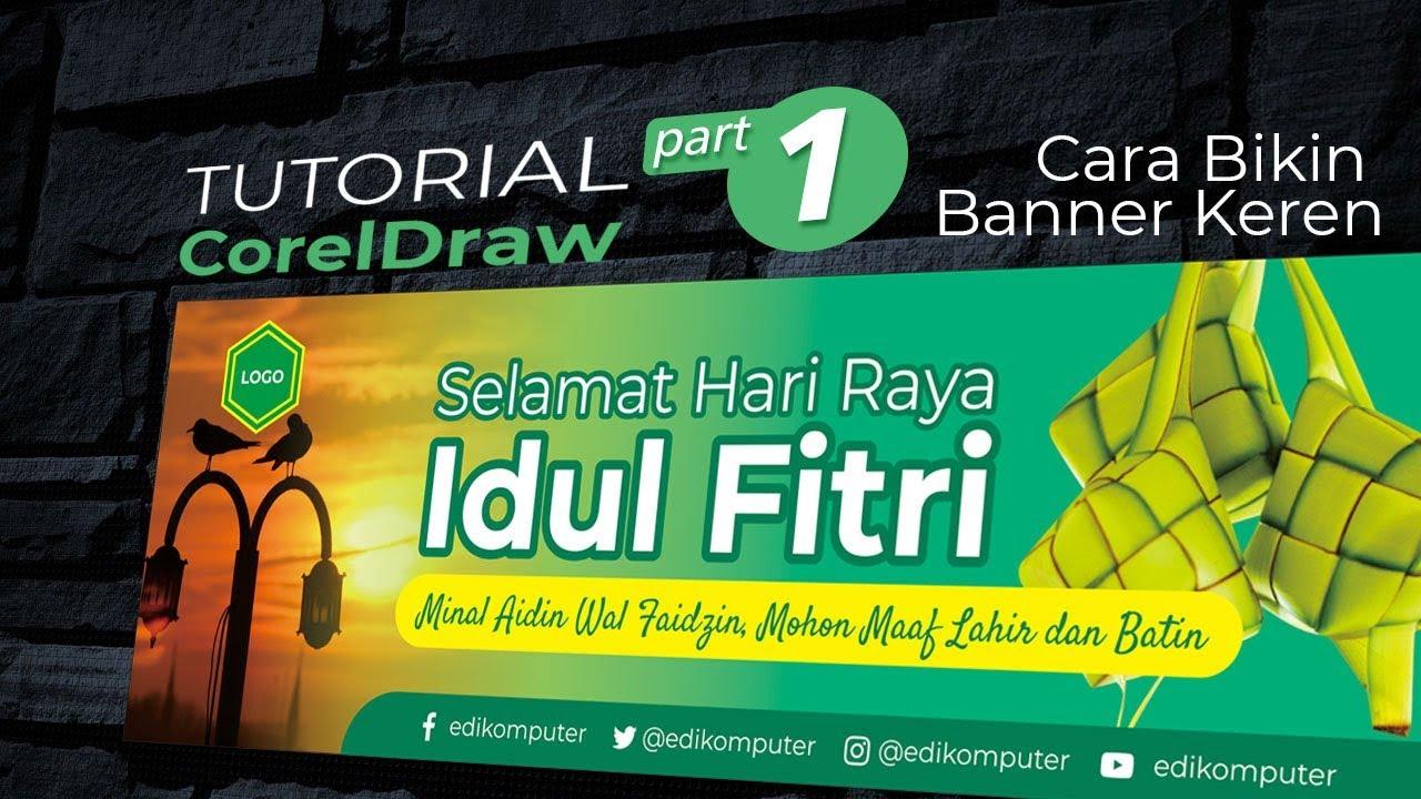 Belajar Membuat Desain Banner Idul Fitri 2019 Part 1 Youtube