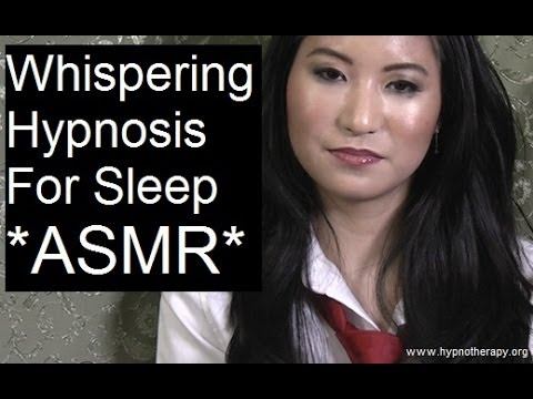 ASMR whispering hypnosis for sleep with Amy - 1 hour session with Asian female hypnotist  美女催眠師