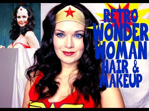 Retro Wonder Woman Hair and Makeup Tutorial and merch GIVEAWAY!