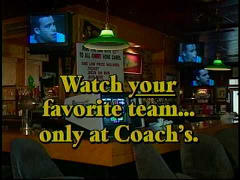 Commercial for Coach's bar and Grill from 1995