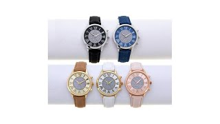 Kessaris Set of 5 Glitter Dial Crystal Watches