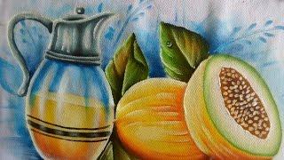 Como pintar Melões e jarra de suco