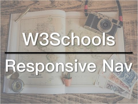 How to Create a Responsive Navigation - W3Schools Video 05 - @Zack