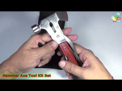 10 In 1 Multi Utility Hammer Axe Tool Kit Set Multi-Function Hammer Camping Too