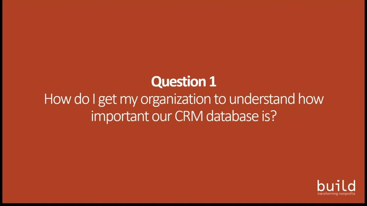 Improving Nonprofit CRM Data Management in 2019 Webinar
