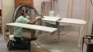 Refinishing A Cherry Dining Table In White  Timeless Arts Refinishing