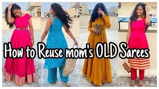 How To Reuse Mom's Old Sarees | 5Dresses from 5 Sarees | nayalooks | Navya Varma