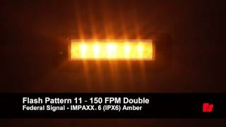 Federal Signal IMPAXX 6 Amber Flash Patterns