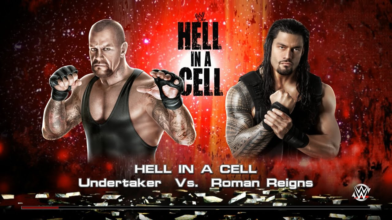 WWE 2K15 The Undertaker Vs Roman Reigns Hell In Cell Match 2015 PS4