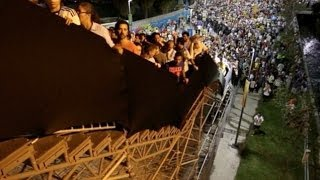 World Cup 2014 - Stairs Leading To Maracana Wobble Under The Weight Of Supporters