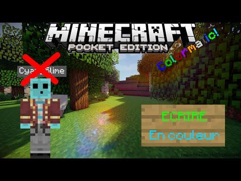 Minecraft PE Tuto - Écrire en couleur et supprimer son pseudo (Obsolète)