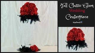 DIY Tall Classic Glam Wedding Centerpiece | Glam Centerpiece on a Budget | DIY Tutorial