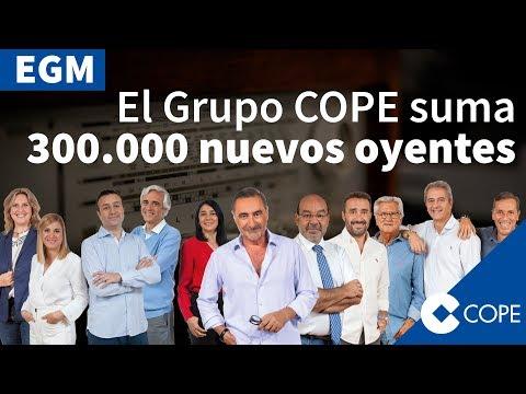 El Grupo COPE lidera el crecimiento de la radio en España #COPEaTOPE