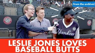 Leslie Jones thinks butts are the best part of baseball