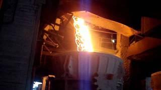 Molten Iron, from Blast Furnace.wmv