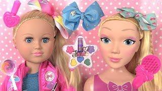 Jojo Siwa Ponytail Routine Coiffure ♥ Tête à Coiffer, Noeuds et Coffret Maquillage