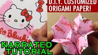 Customized Origami Challenge! How to Fold a Flower