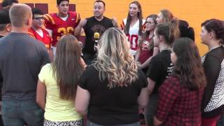 Eric Seiler and Yreka HS Students perform National Anthem -- 8/28/15