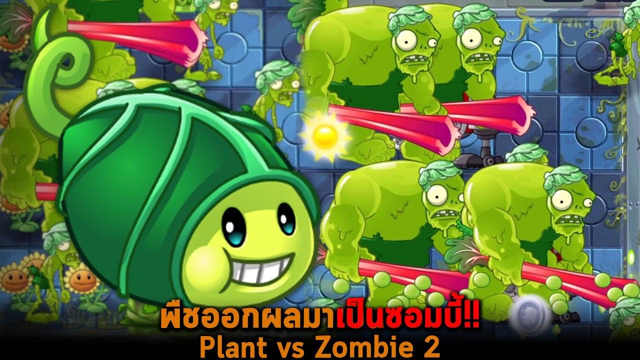 พืชออกผลมาเป็นซอมบี้ Plant vs Zombie 2