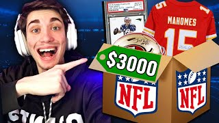 OPENING A $3,000 NFL MYSTERY BOX! (MVP & HOF AUTOGRAPHS)
