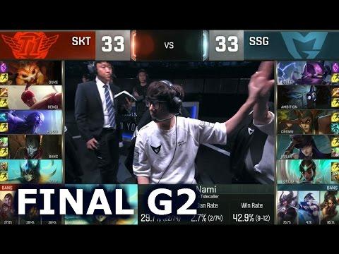 SKT Vs SSG - Game 2 Grand Finals Worlds 2016 | LoL S6 World Championship Samsung Vs SK Telecom T1 G2