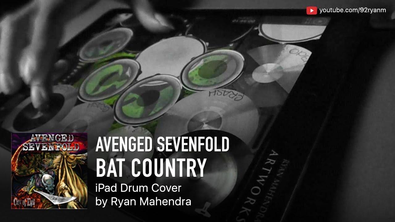 Ipad Drum Cover Avenged Sevenfold Bat Country Youtube