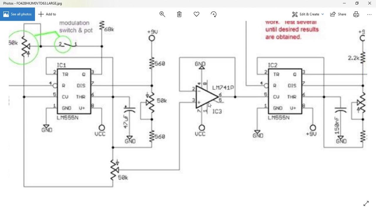 dub siren schematic [ 1280 x 720 Pixel ]