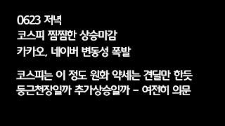 0623 코스피 찜찜한 상승 / 카카오, 네이버 변동성…