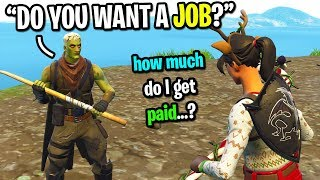 Stranger offered me a JOB in real life for winning a Fortnite game... (SHOULD I ACCEPT IT?)