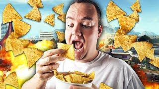 EATING CHIPS TROLLING ON CALL OF DUTY! (Black Ops 2 Trolling)