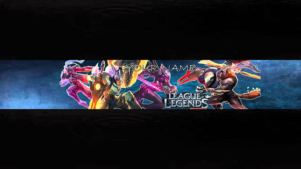 youtube channel art template league of legends project theme youtube