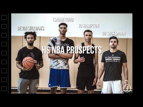 HS NBA Prospects Isaiah Todd & RJ Hampton IN THE LAB W/Devin Williams & DJ Sackmann FULL