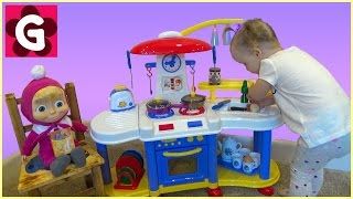 huge toy kitchen set cooking play kitchen set for children kids toy review