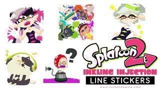 Splatoon: Inlking Injection | Line Sticker Showcase