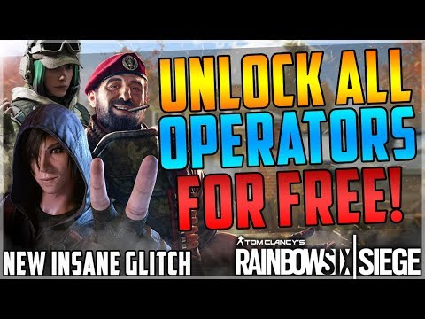 NEW GET ALL OPERATORS IN THE GAME FOR FREE GLITCH - ALL PLATFORMS - INSANE - (Rainbow Six Siege)