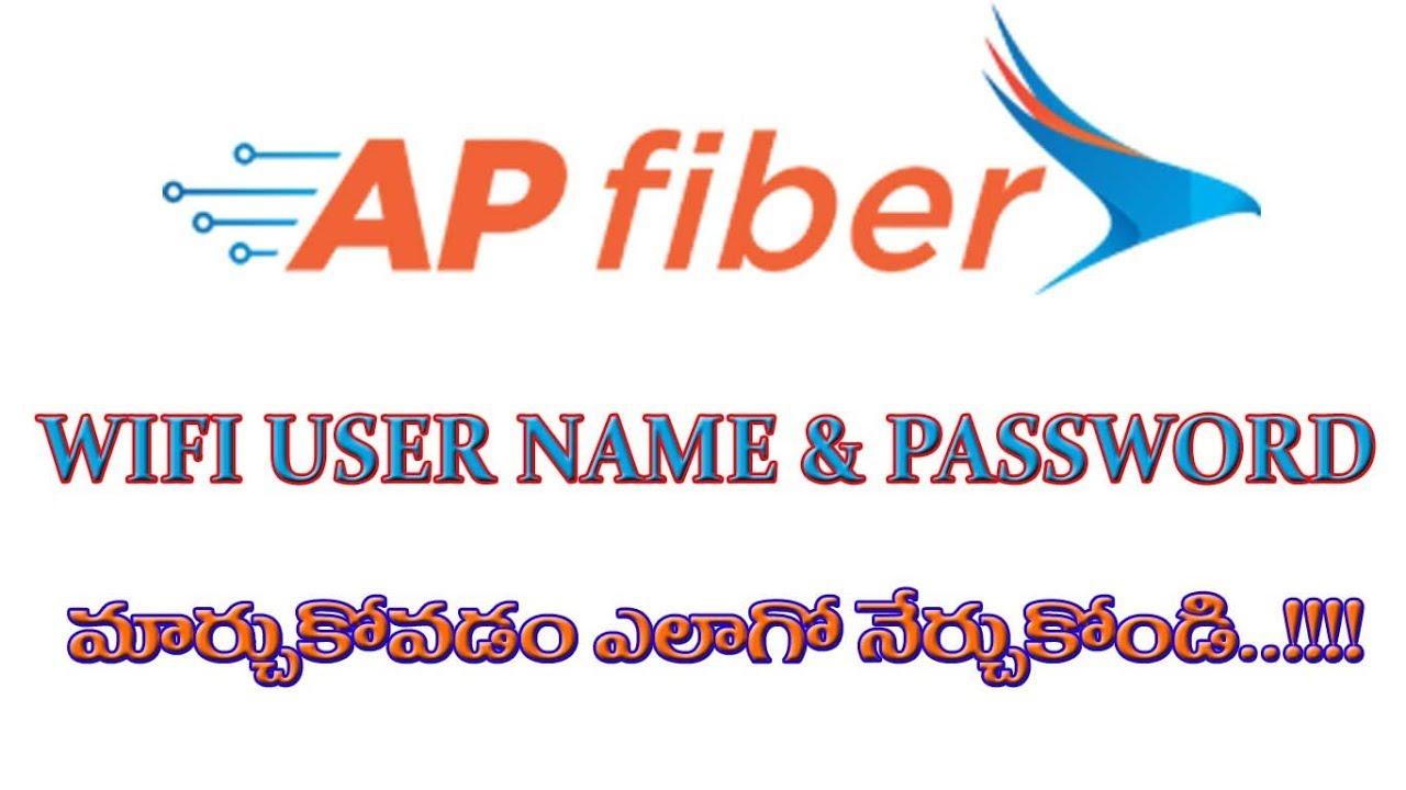 How to Change Ap Fiber(APSFL) WIFI UserName and Password 2018 || Telugu